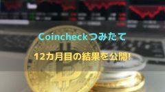 【12カ月目】コインチェック(Coincheck)積み立ての含み益の結果を公開!!
